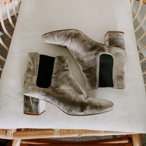 Madewell Velvet Chelsea Boots